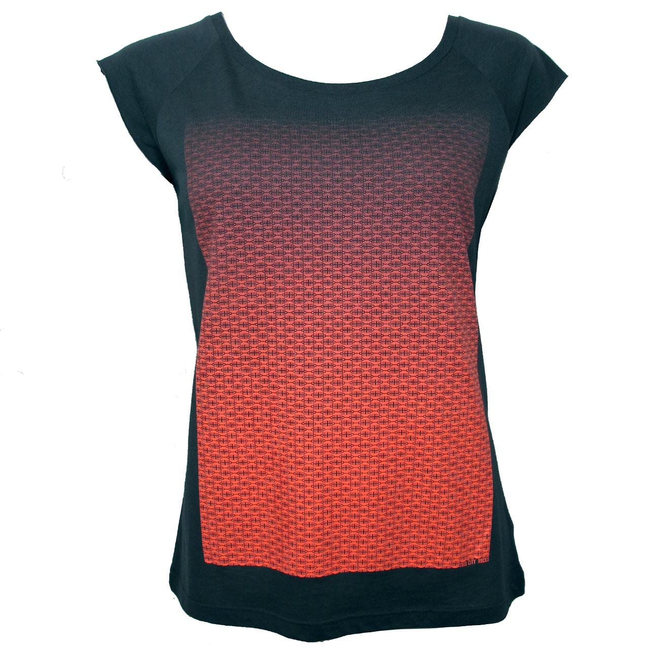 Berlin Design T-Shirt Brandenburger Tor girls grau/neon