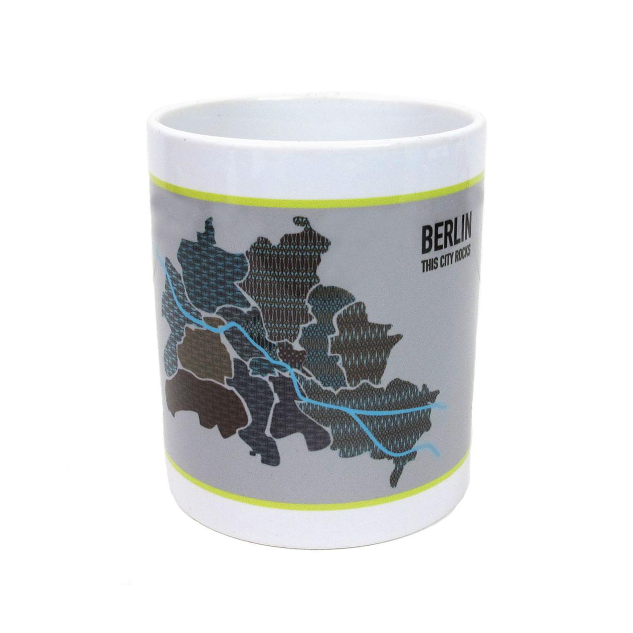 """Berlin Tasse """"Map"""" Bezirke"""