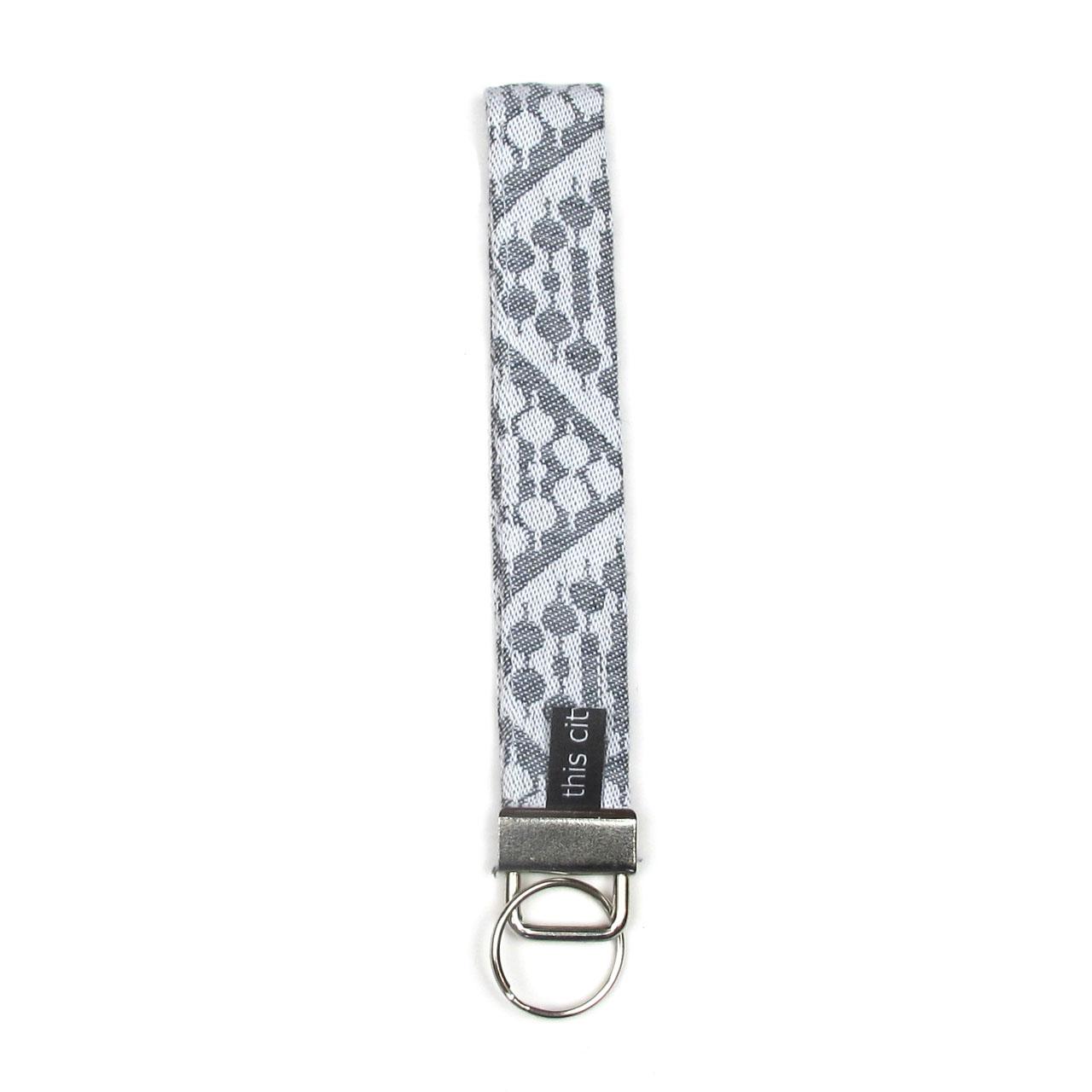 Schlüsselanhänger mit Schlaufe schwarz/silber