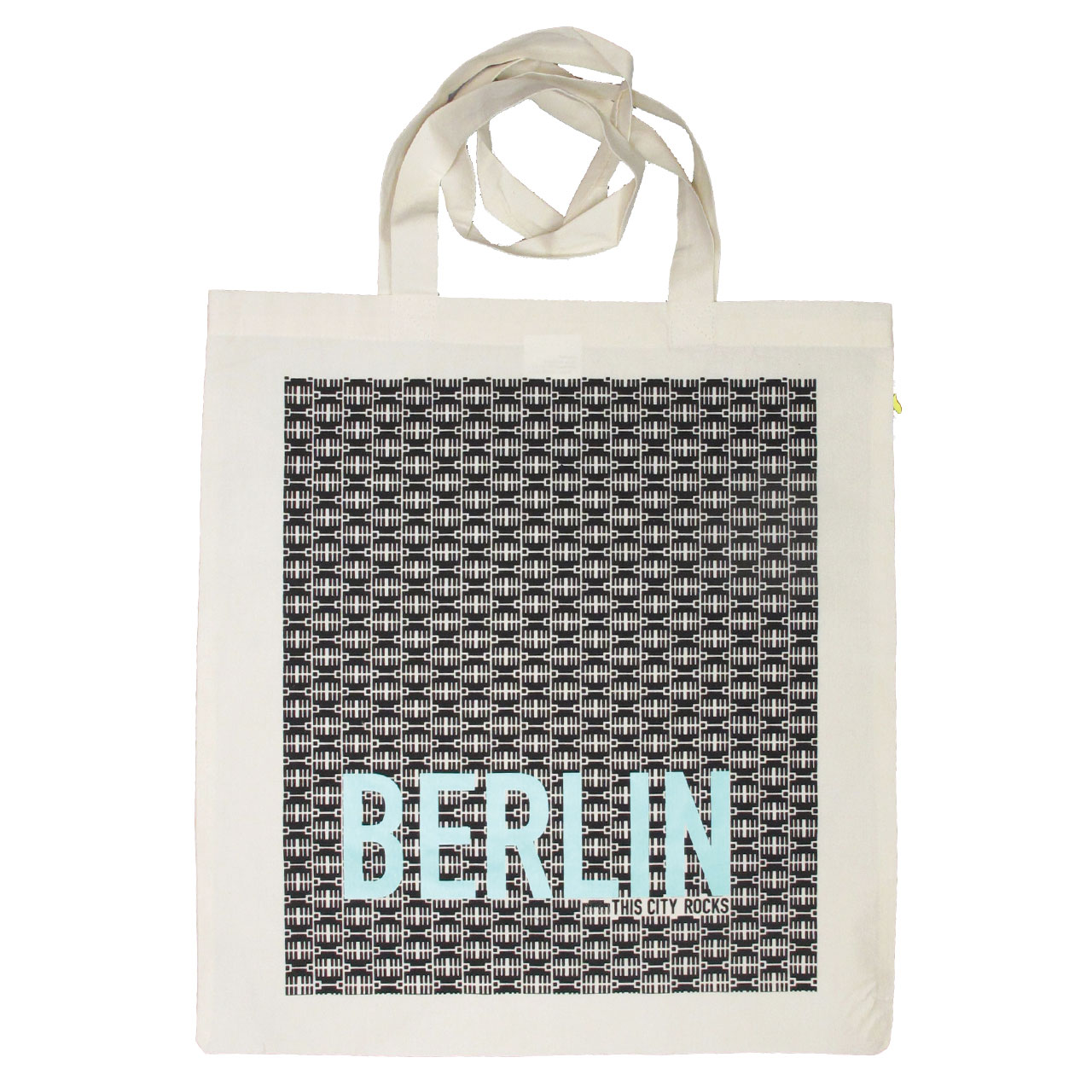 Berlin Jutebeutel Brandenburgertor schwarz/mint
