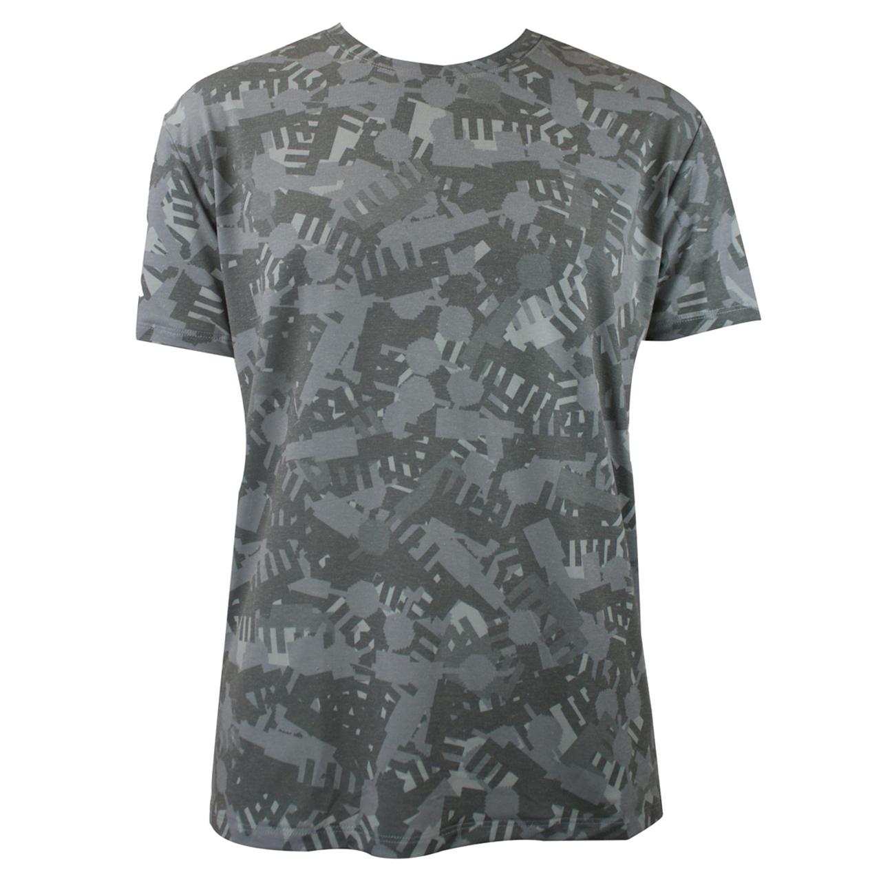 Berlin Design T-Shirt Alloverprint Camouflage kaki