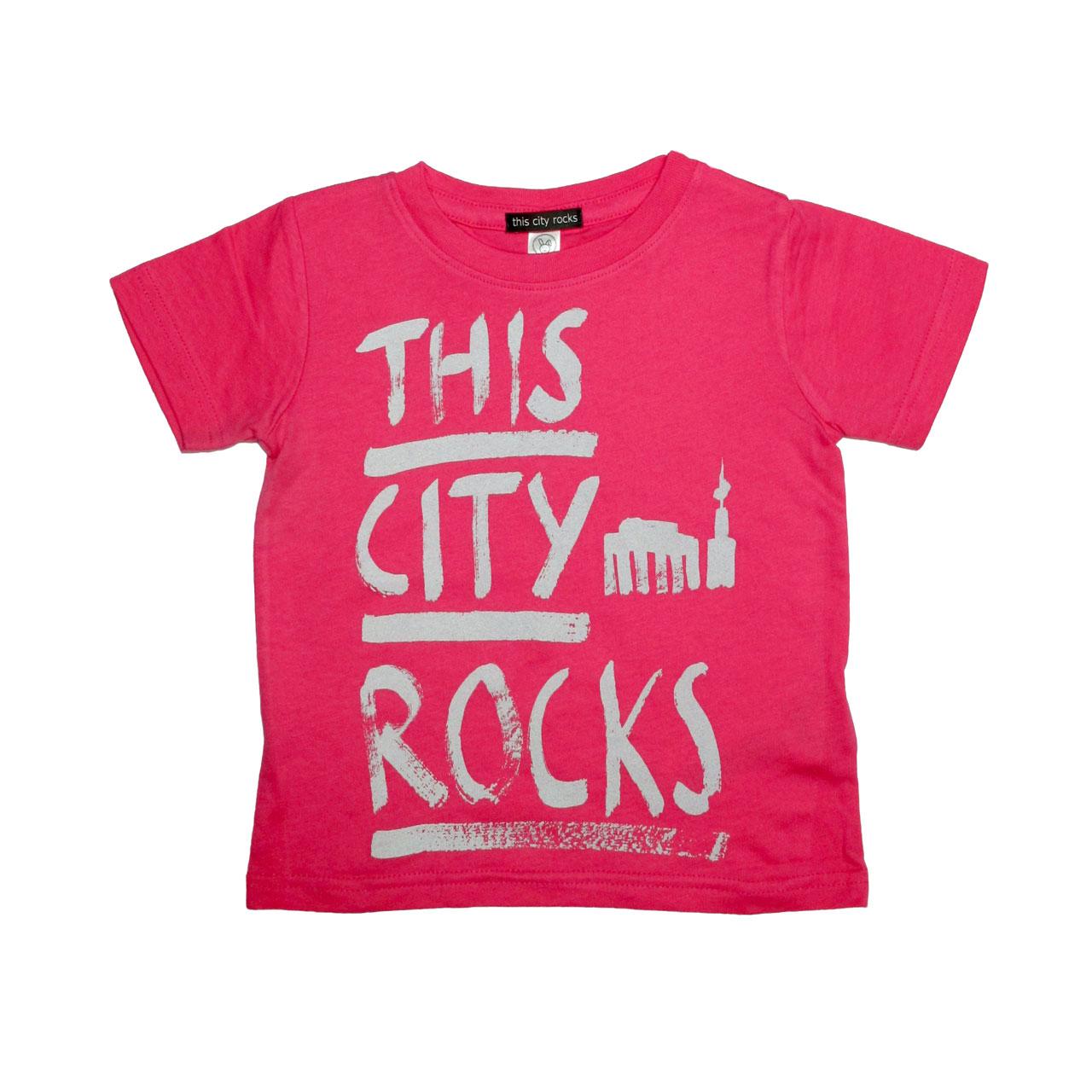 Berlin T-Shirt THIS CITY ROCKS pink