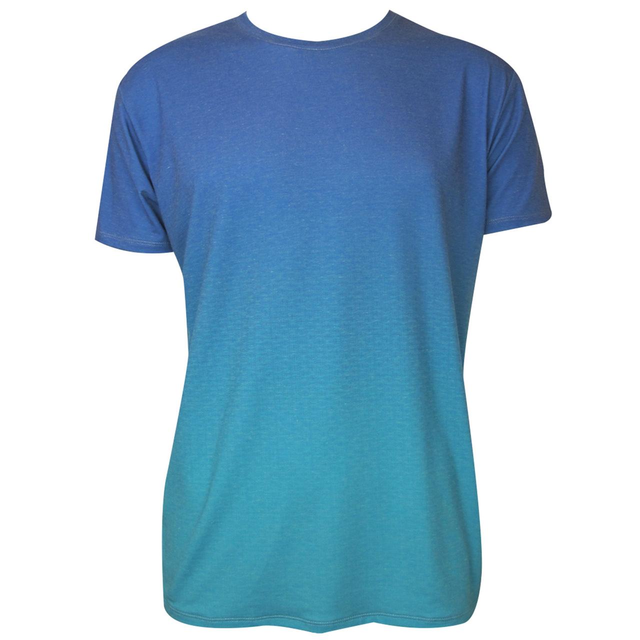 Berlin T-Shirt mit Farbverlauf Brandenburger Tor Verlauf hell-blau/blau