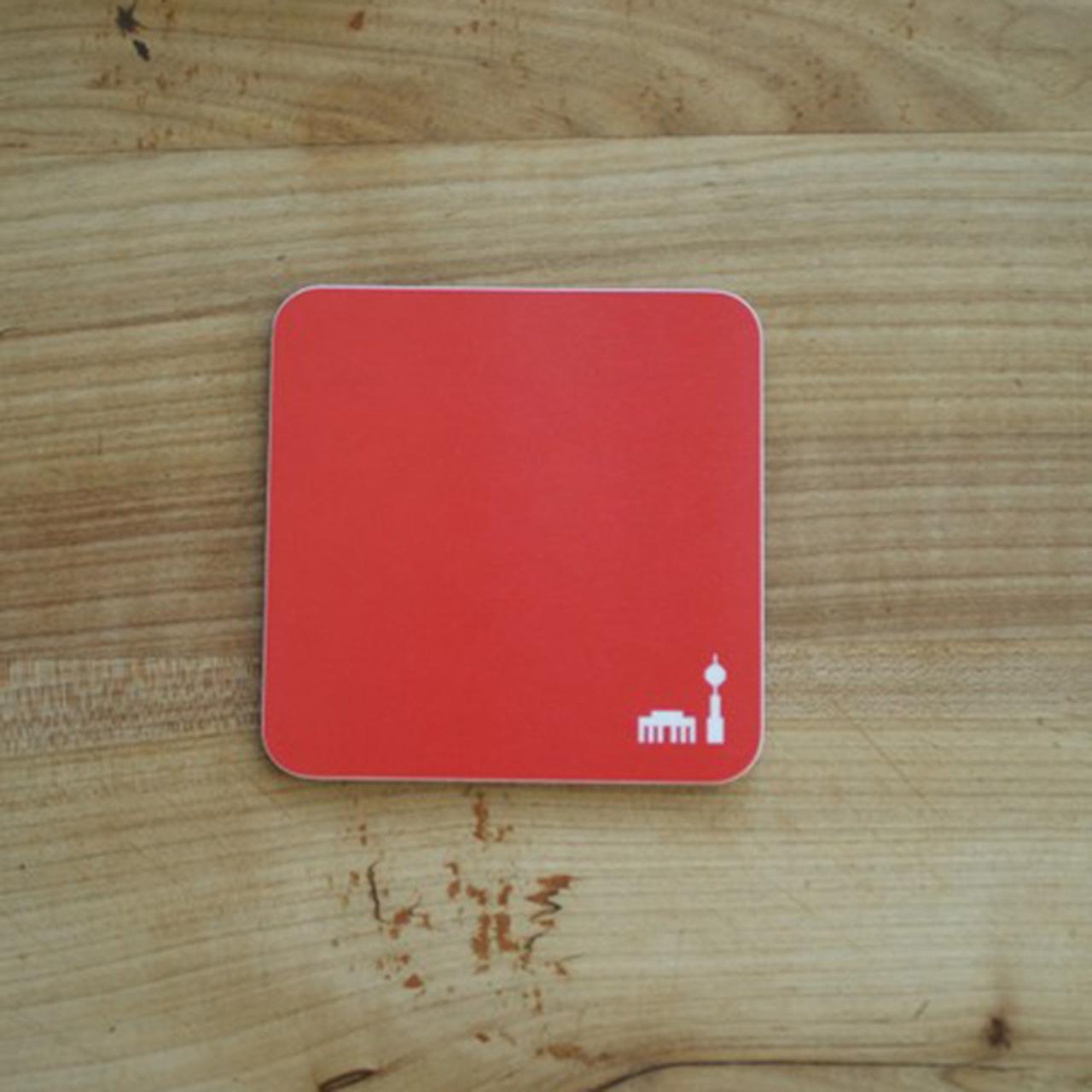 1x Coaster / Untersetzer Berlin rot