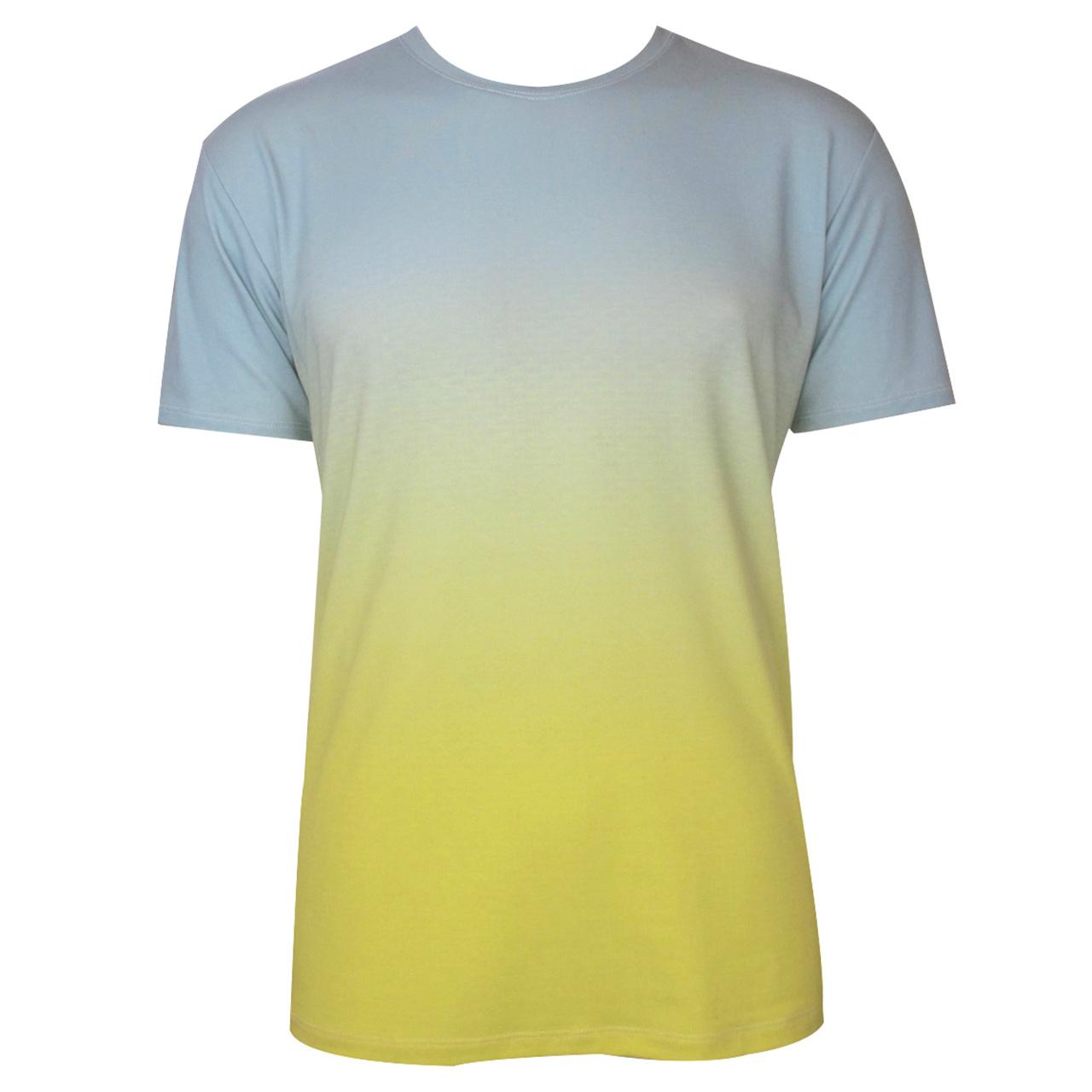 Berlin T-Shirt mit Farbverlauf Brandenburger Tor hell-blau/gelb