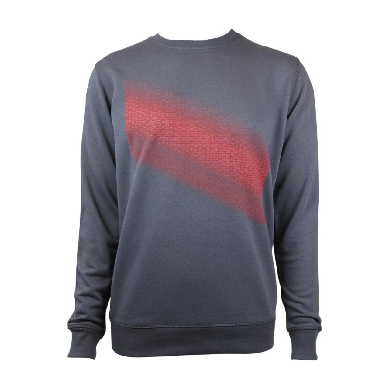 Sweatshirt Brandenburger Tor Diagonal grau/rot