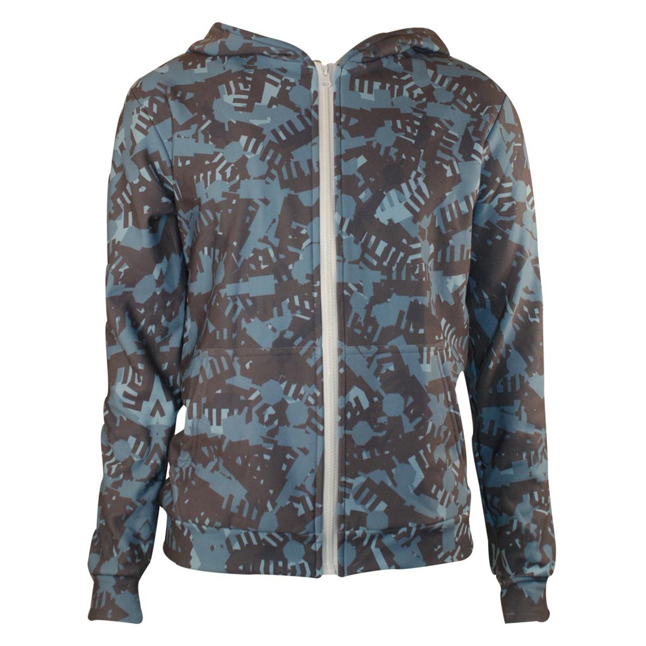 Sweatshirtt Hoodie mit zipper Camouflage blau