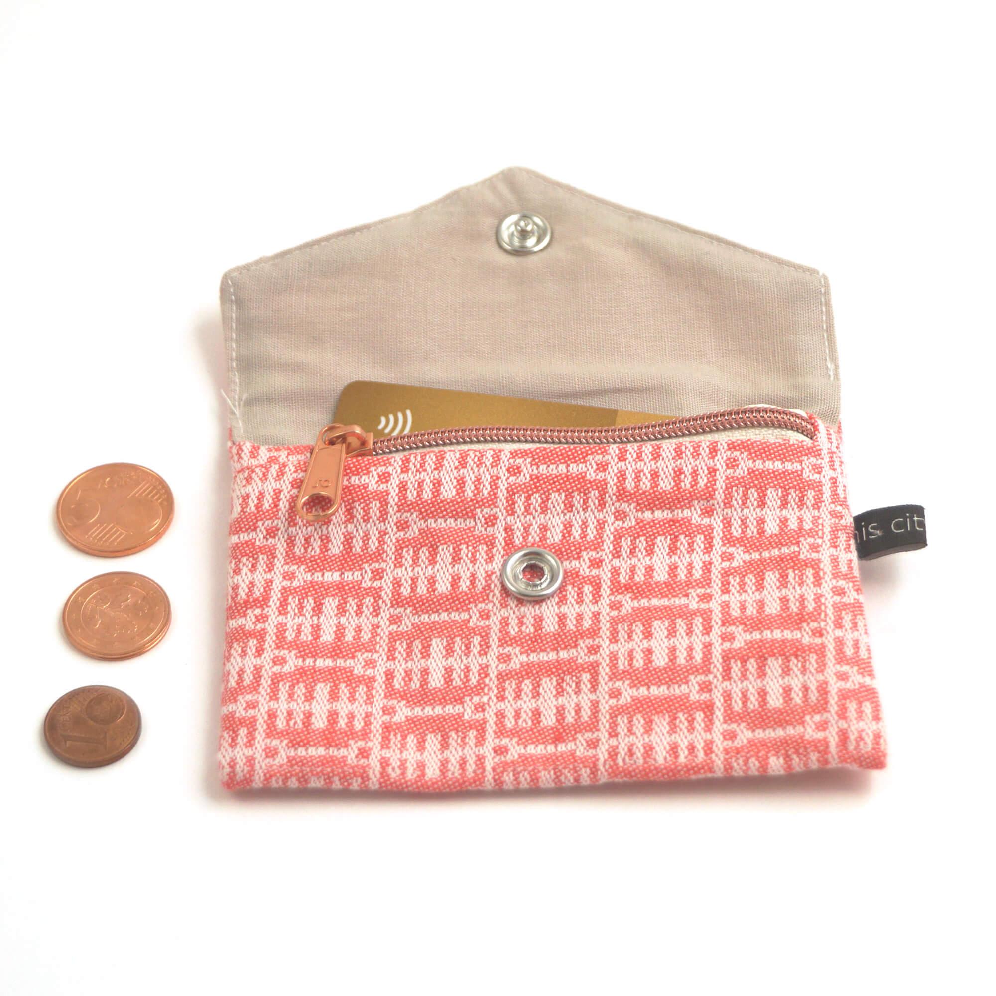 Kleine Geldbörse mit Reißverschluss Tasche BT rot