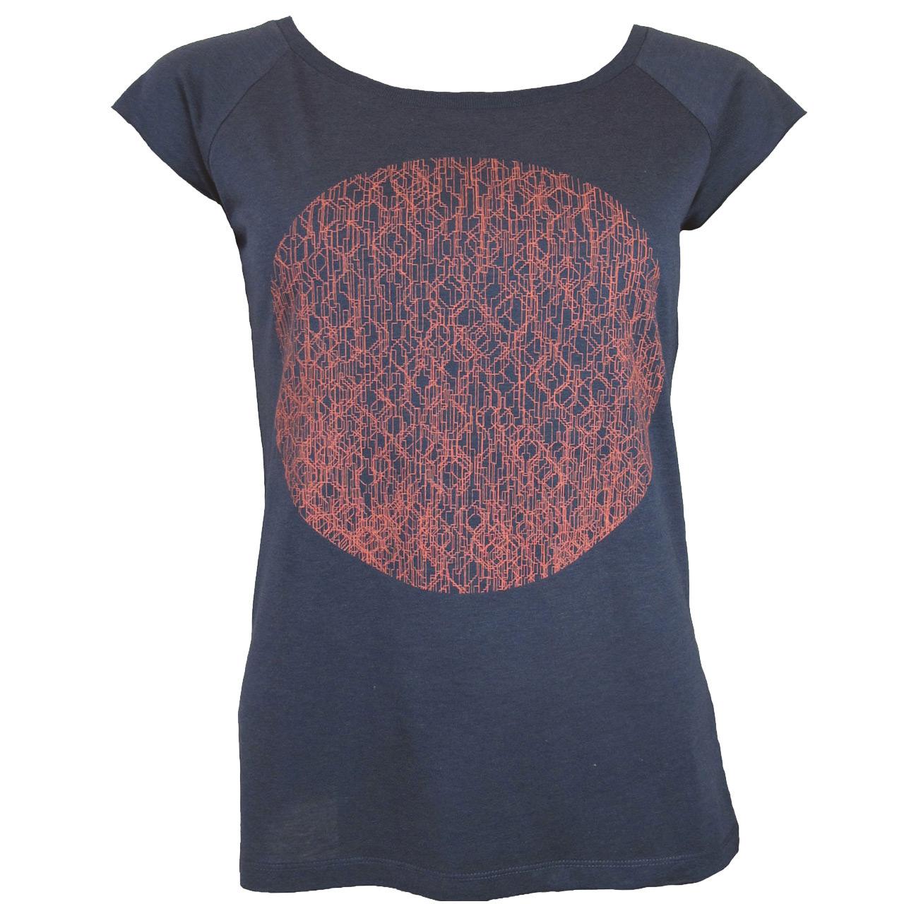 Berlin Design T-Shirt Fernsehturm Kreis girls grau/neonorange