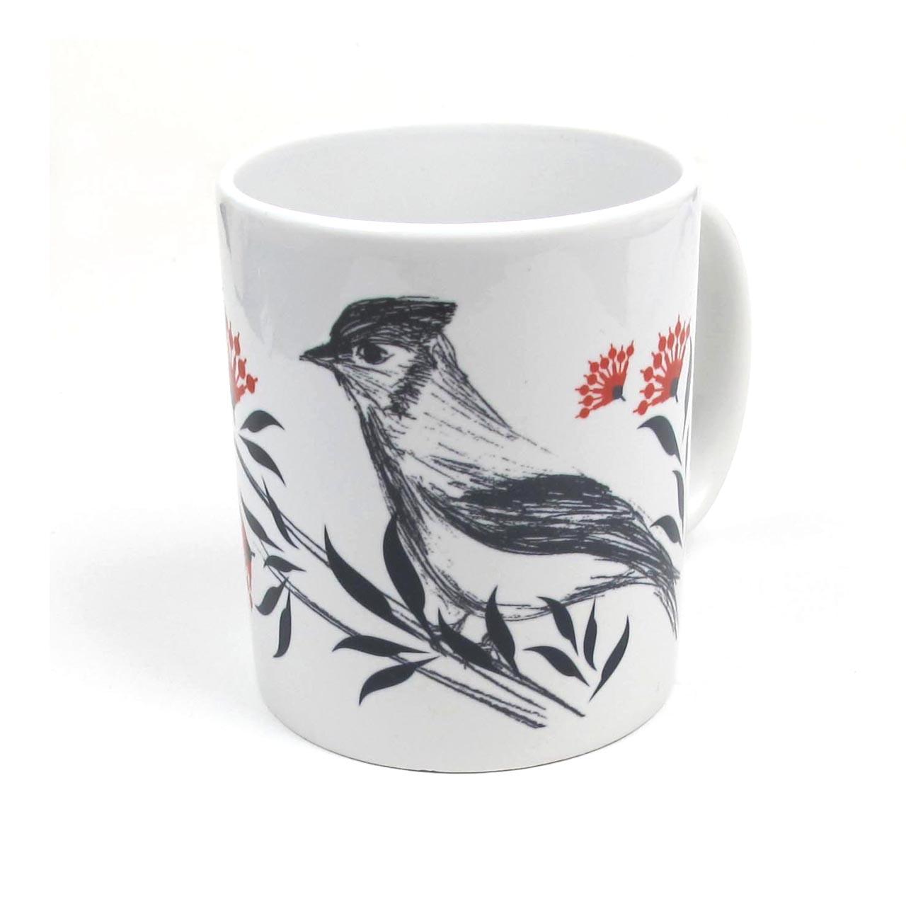 Tasse Fernsehturm Vogel / Blume