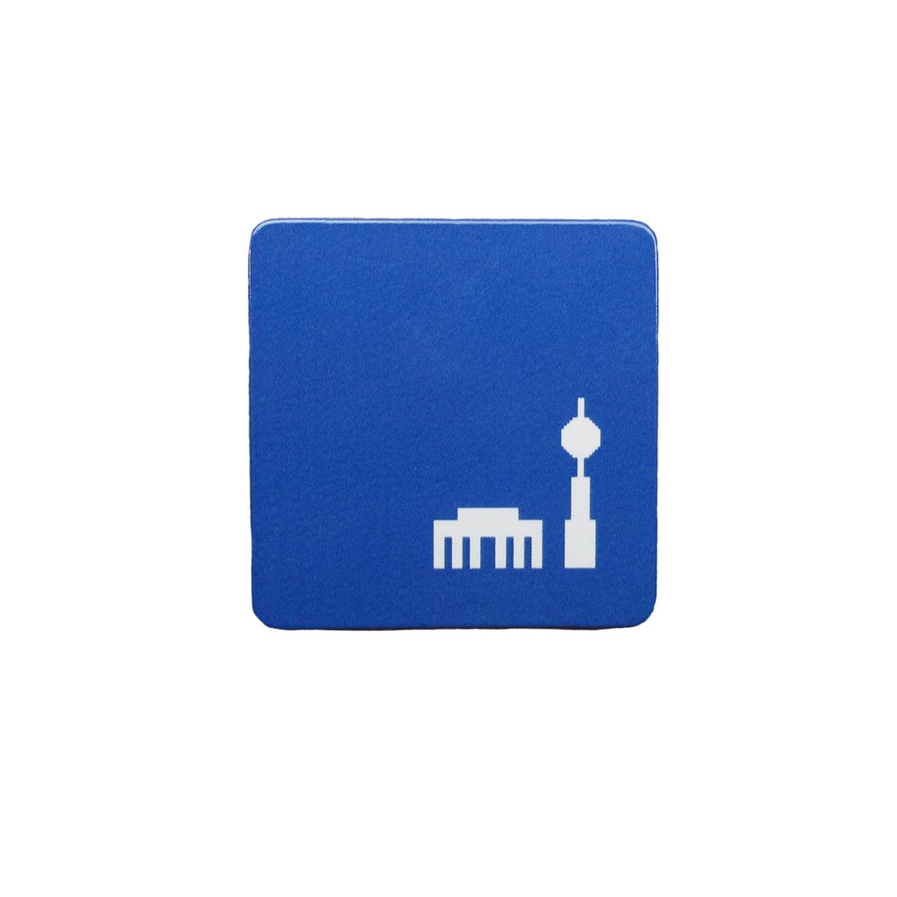 Berlinmagnet Tor + Turm blau