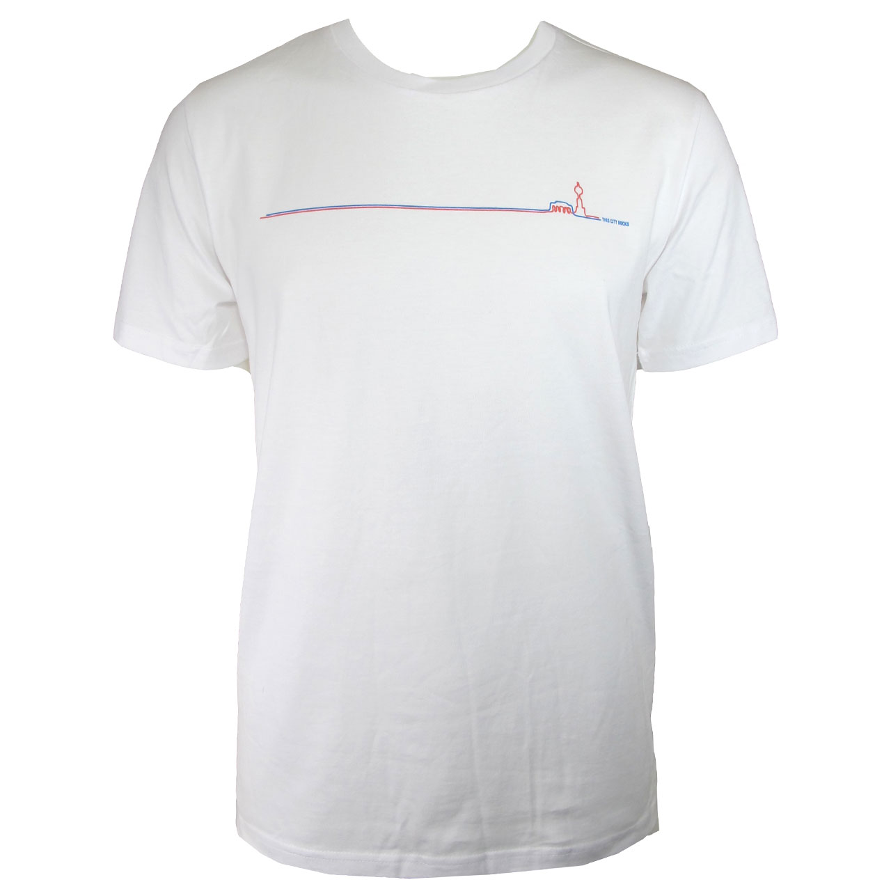 Berlin Design T-Shirt Fernsehturm /Brandenburger Tor weiß