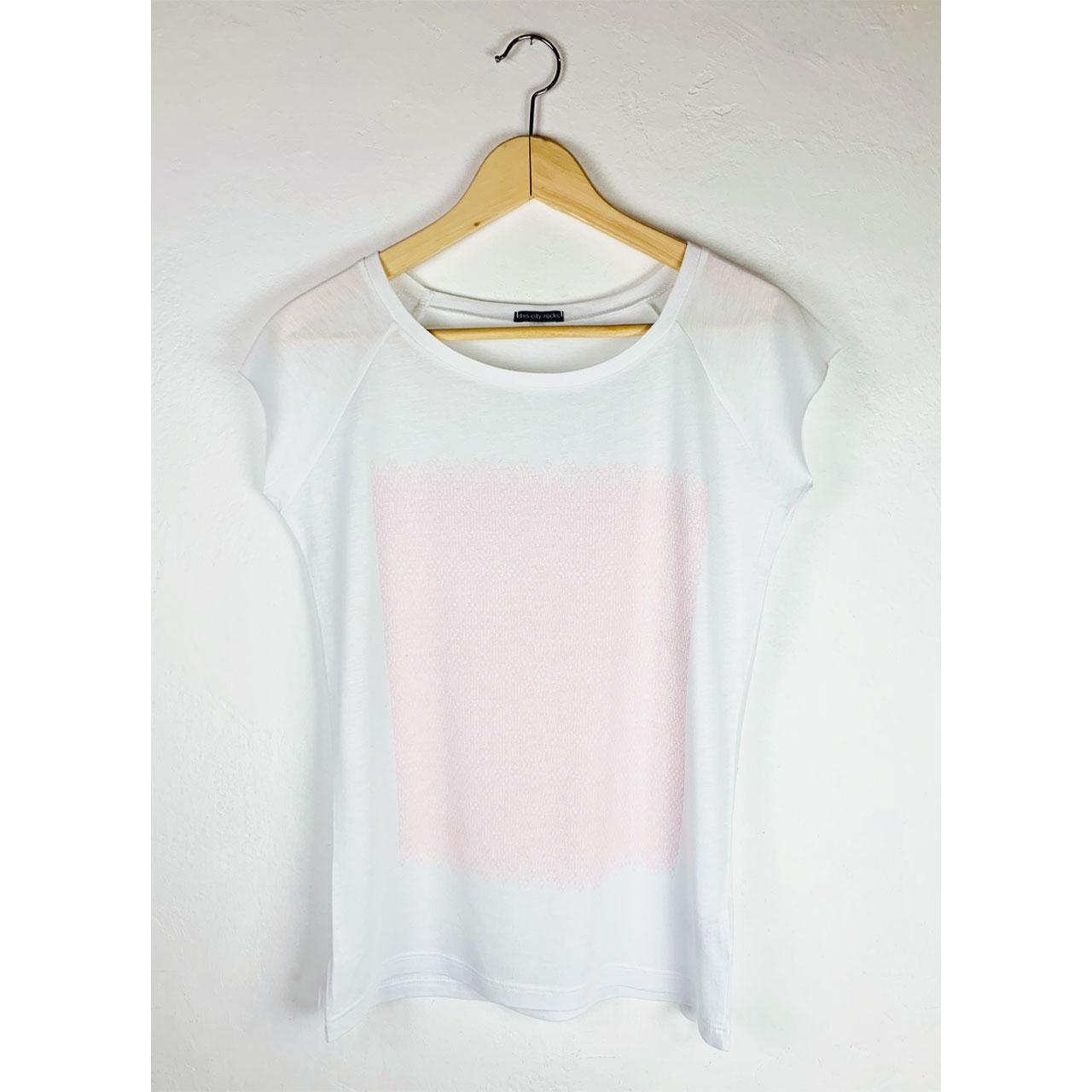 Berlin T-Shirt Fernsehturm fein weiß/rosa