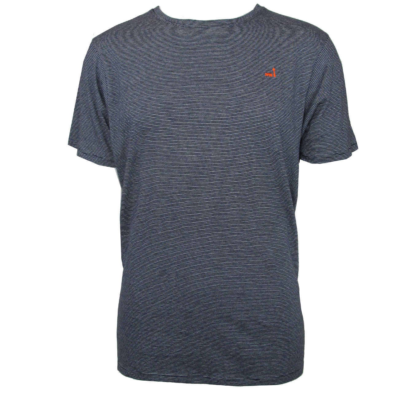 Berlin T-Shirt Streifen Stickerei marineblau/rot