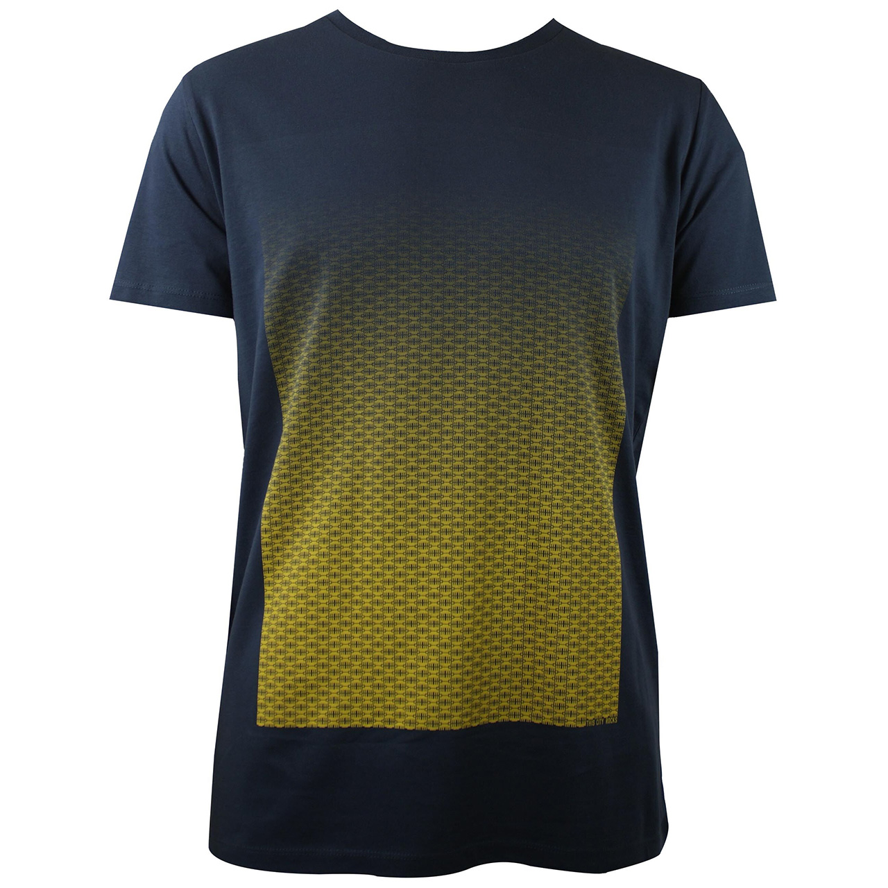 Berlin Design T-Shirt Torverlauf men grau/gelb