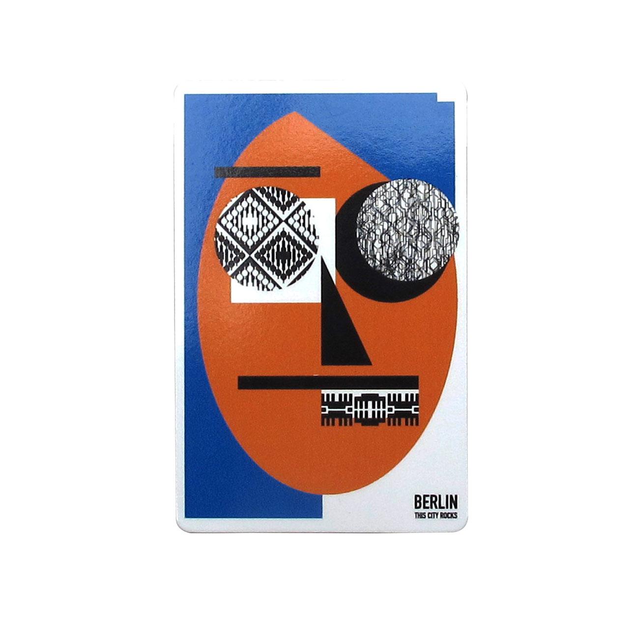 Berlinmagnet Face blau/orange