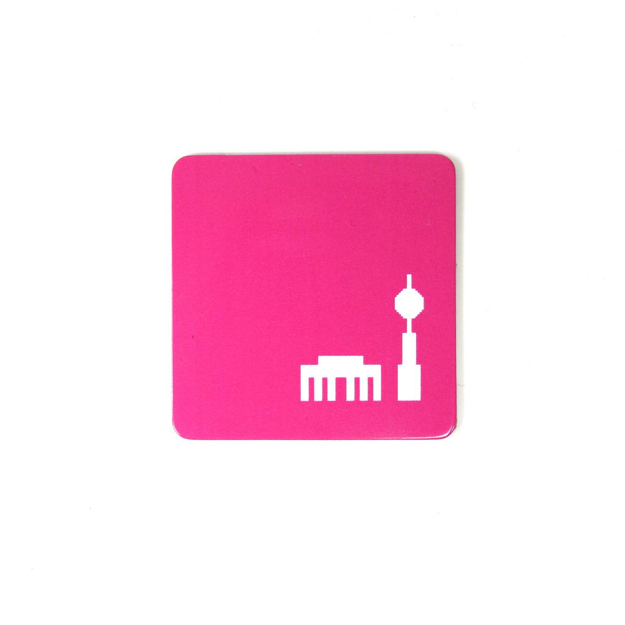 Berlinmagnet Tor + Turm pink