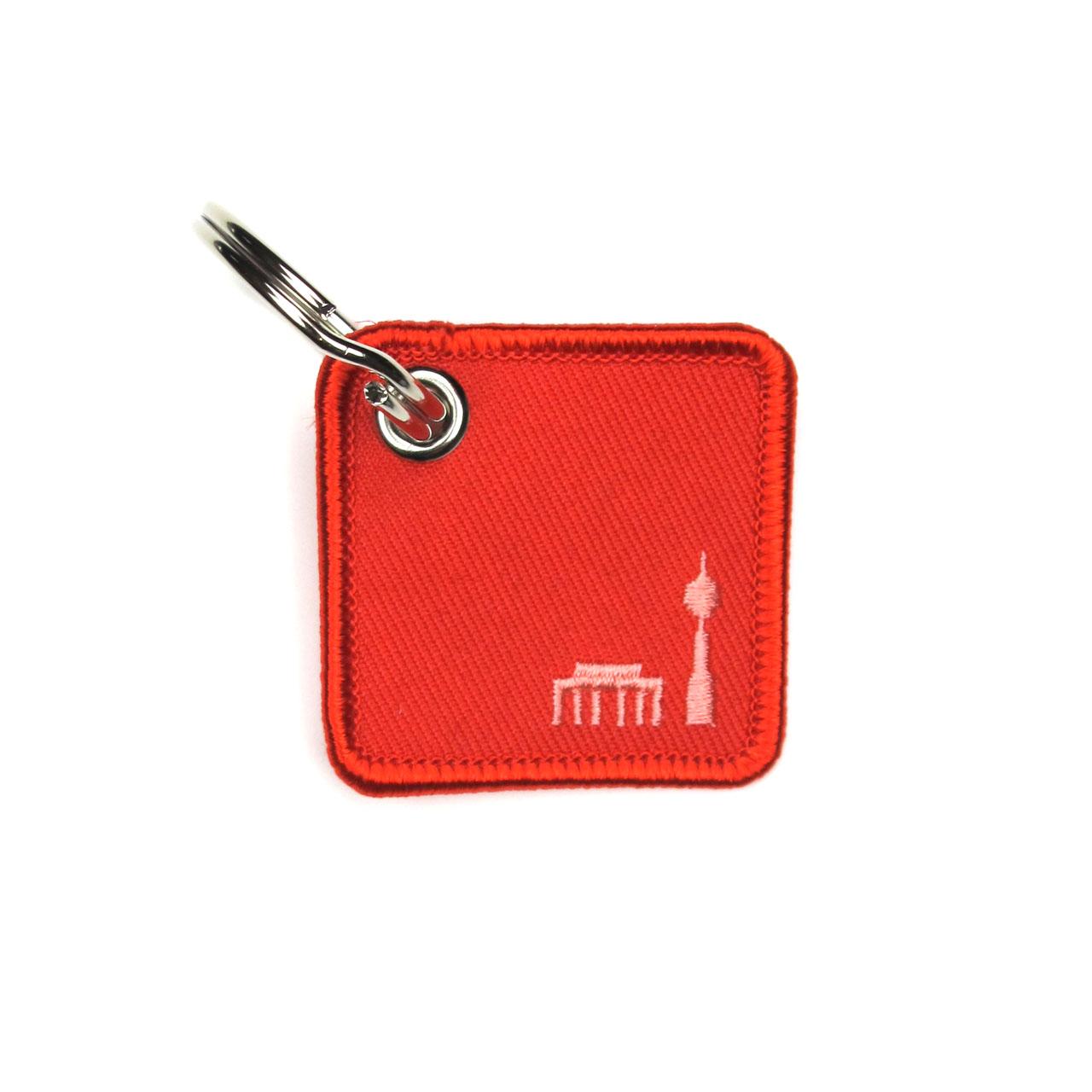 Schlüsselanhänger Berlin in rot
