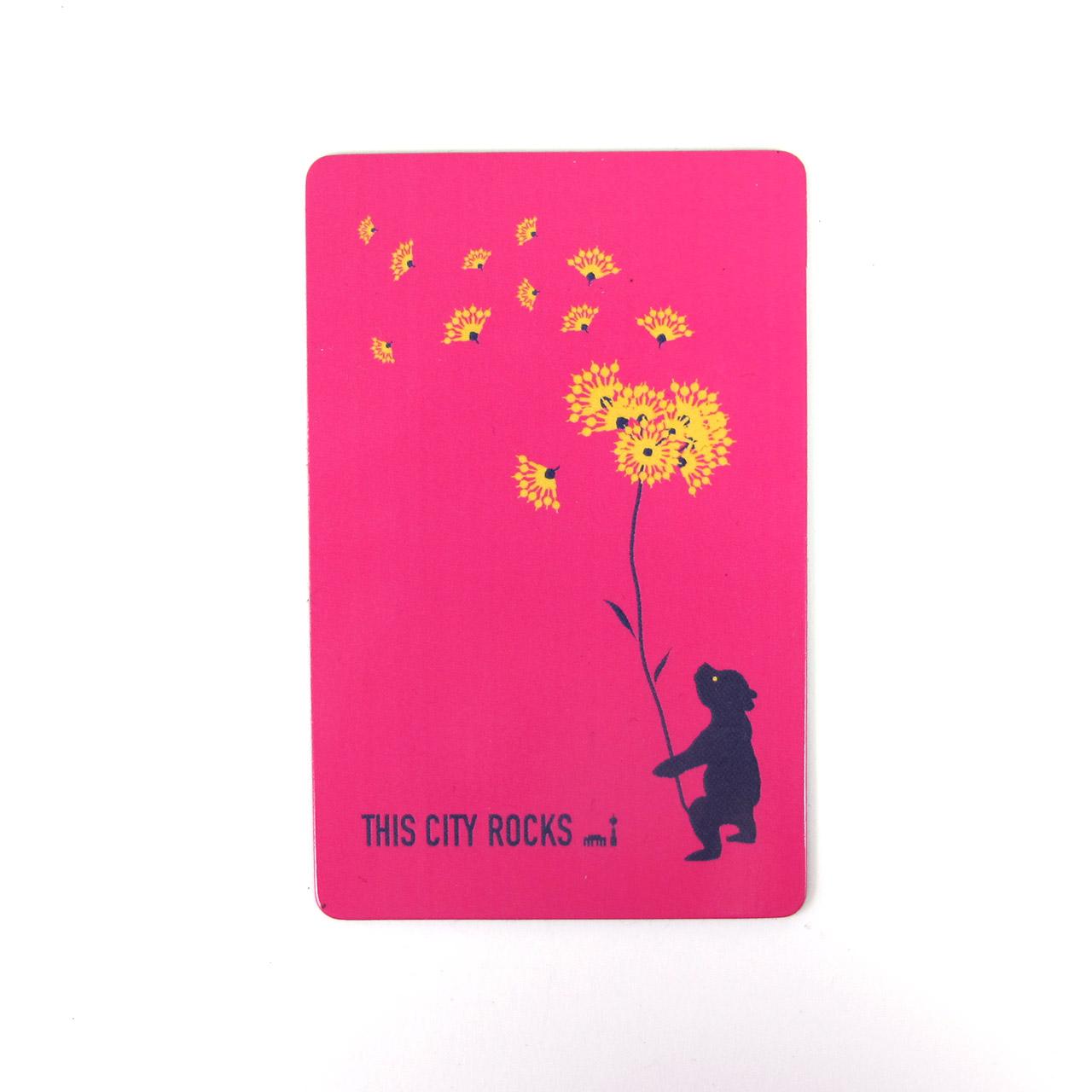 Berlinmagnet Bär und Blumen pink