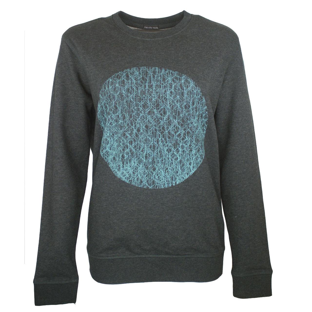 Berlin Design Sweatshirt Fernsehturm Kreise antrazyt/blau