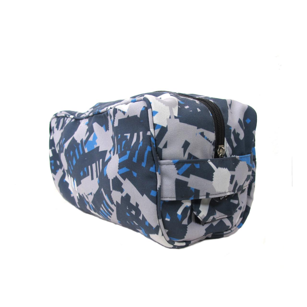 Kulturbeutel Camouflage grau/blau