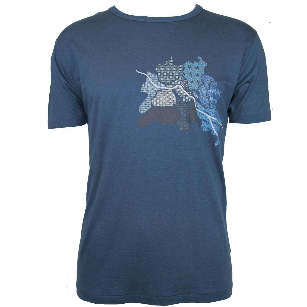 Berlin Design T-Shirt Karte blau