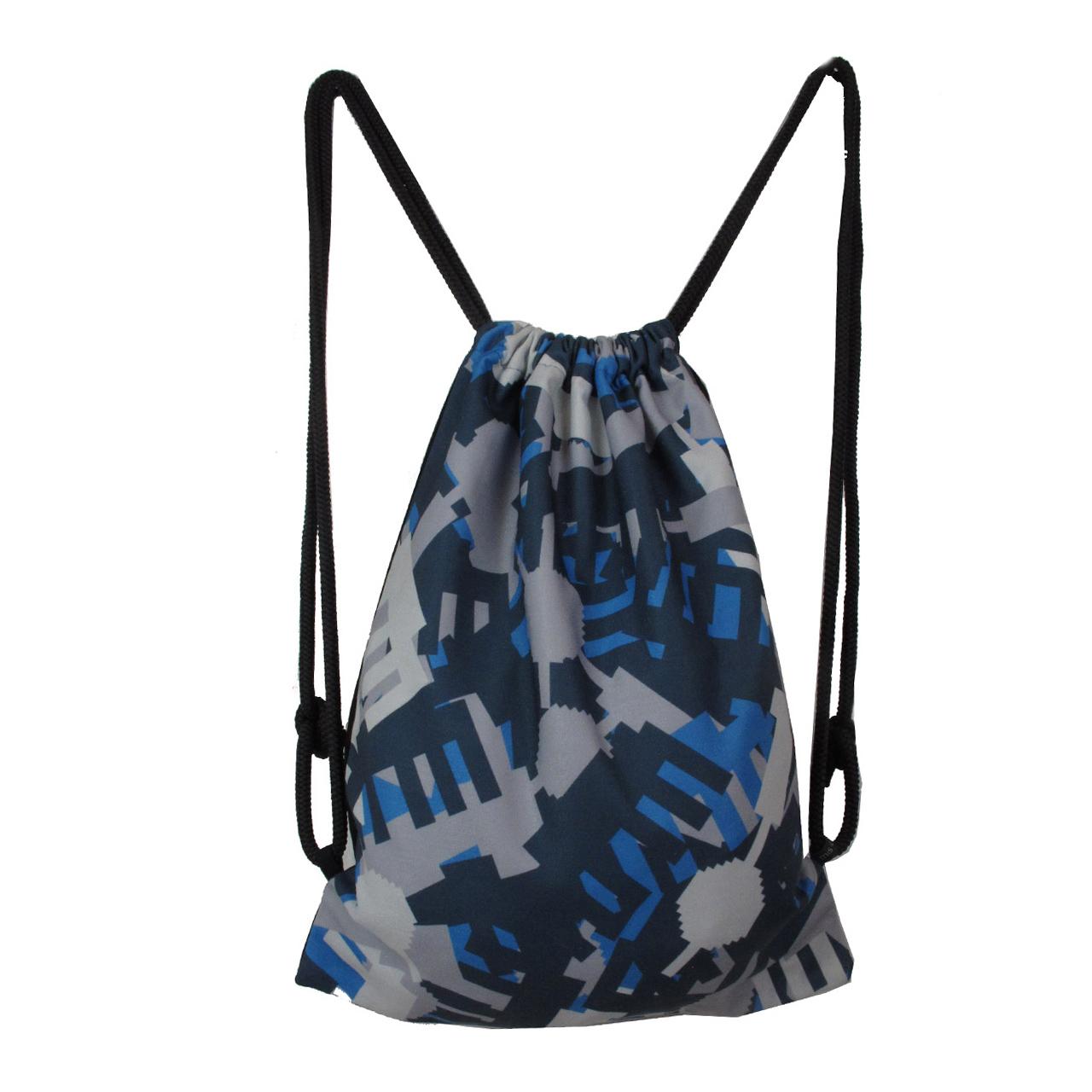 Rucksack/Gymbag Allover Camouflage blau/grau