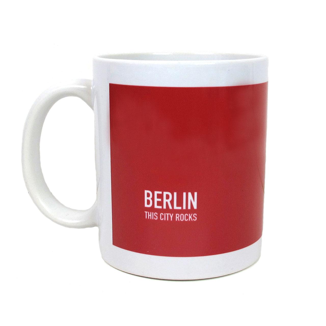 Berlin Becher Fernsehturm/Brandenburger Tor rot