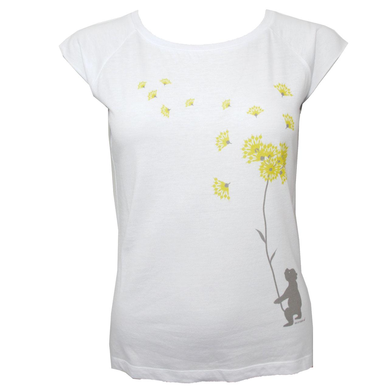 Berlin Design T-Shirt Bär Pusteblume weiß