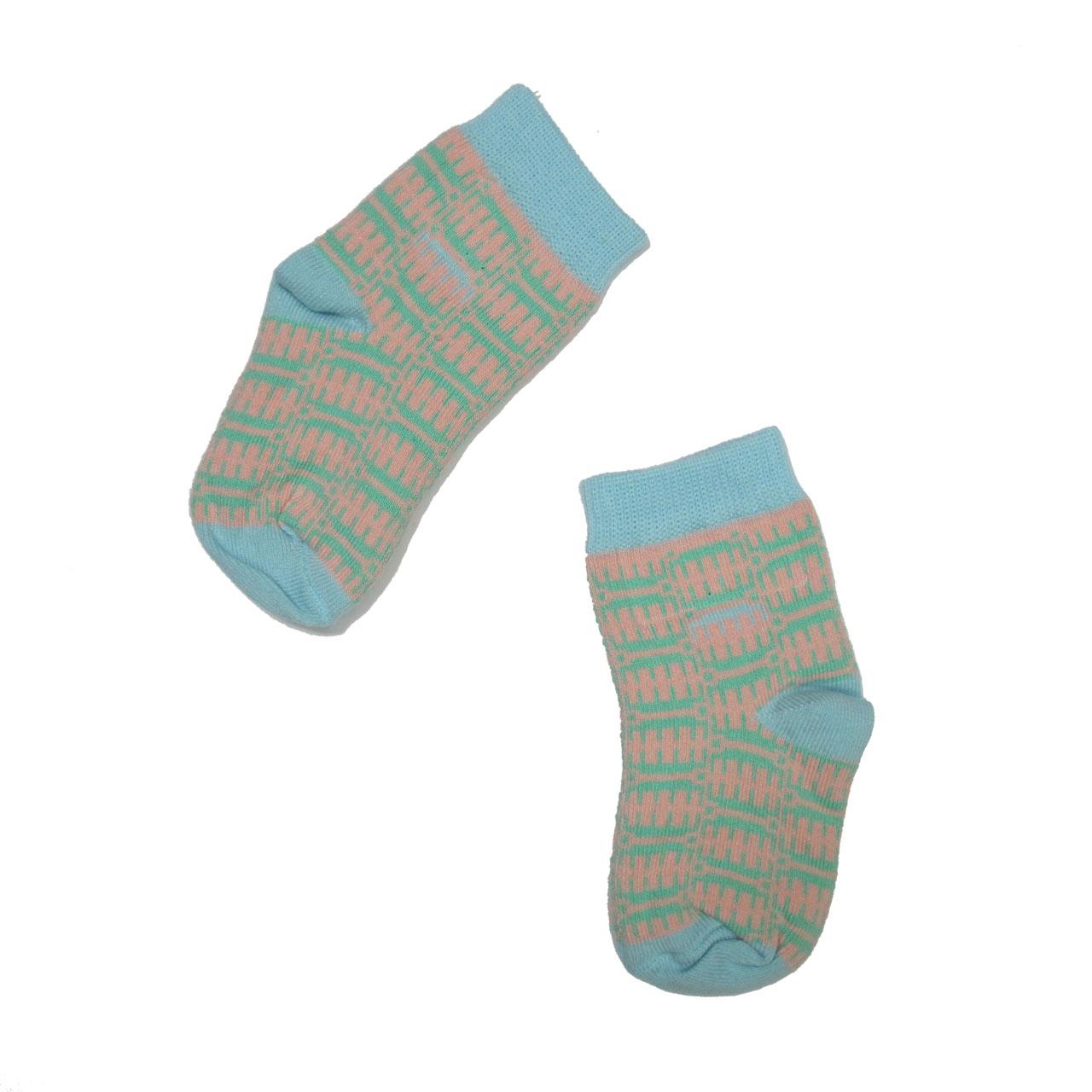 Socke in the Box / Baby Socken hell-blau/rosa